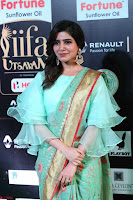 Samantha Ruth Prabhu Smiling Beauty in strange Designer Saree at IIFA Utsavam Awards 2017  Day 2  Exclusive 26.JPG