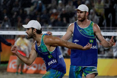 Alison and Bruno Lands Men's Beach Volleyball Gold Medal for Brazil