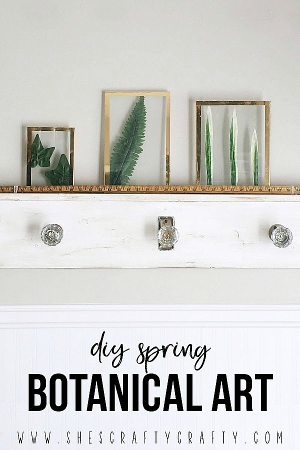 DIY instructions for Botanical Art for Spring