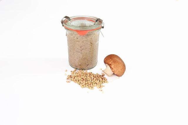 risotto de sarrasin et champignon sans lactose