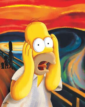 Homer The Scream