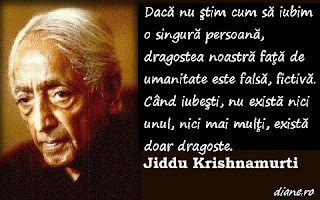Jiddu Krishnamurti despre dragoste