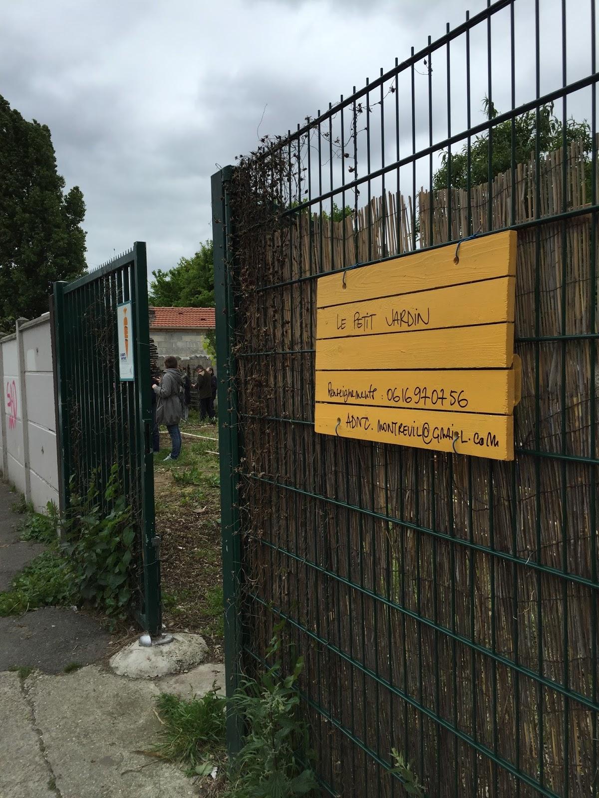 Le petit jardin op ration panneaux de sensibilisation 8 mai 2017 - Petit jardin de luxe montreuil ...