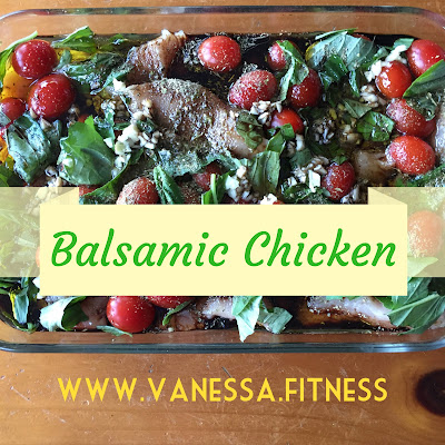 vanessa.fitness, balsamic chicken, 21 Day Fix, autumn calabrese, clean eating, chicken dinner recipe, healthy eating, low calorie