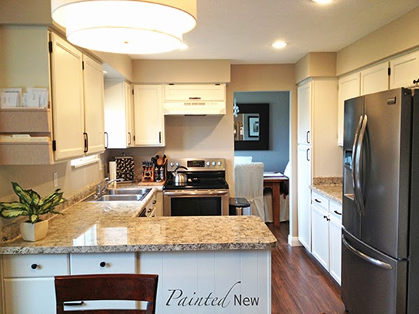 cheap used kitchen cabinets remodel mn painted new: $120 cabinet makeover