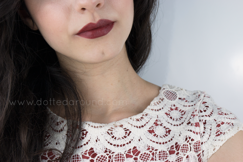 swatch of MAC Bowl Me Over lipstick