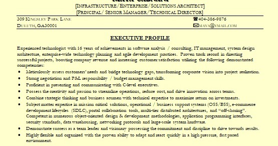 Sample Resume Architect - Costumepartyrun - principal architect sample resume