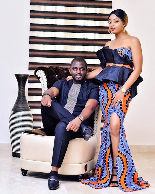 beautiful matching couples ankara designs and styles, latest trendy couples ankara styles, ankara designs for couples, matching ankara styles and designs for couples