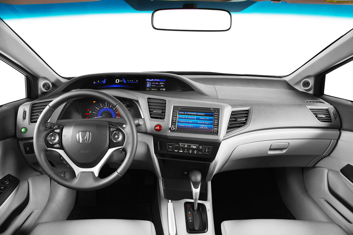 novo Honda Civic 2014 interior