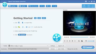 Tipard Total Media Converter ist die professionelle Lösung zur umfassenden Umwandlung von ungeschützten DVDs und Videos in fast alle populäre Formate einschließlich HD und 3D Videos.