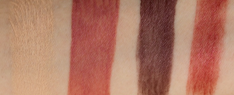 Au Naturale Cosmetics Organic Cream Makeup Swatches