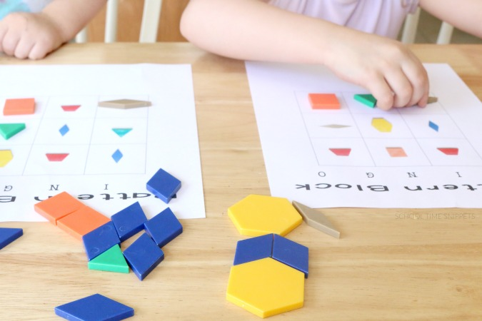 printable pattern block shapes game