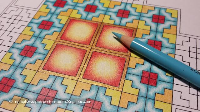 Kleurmeditatie Keltische 'tapijttegel' trappatroon 1