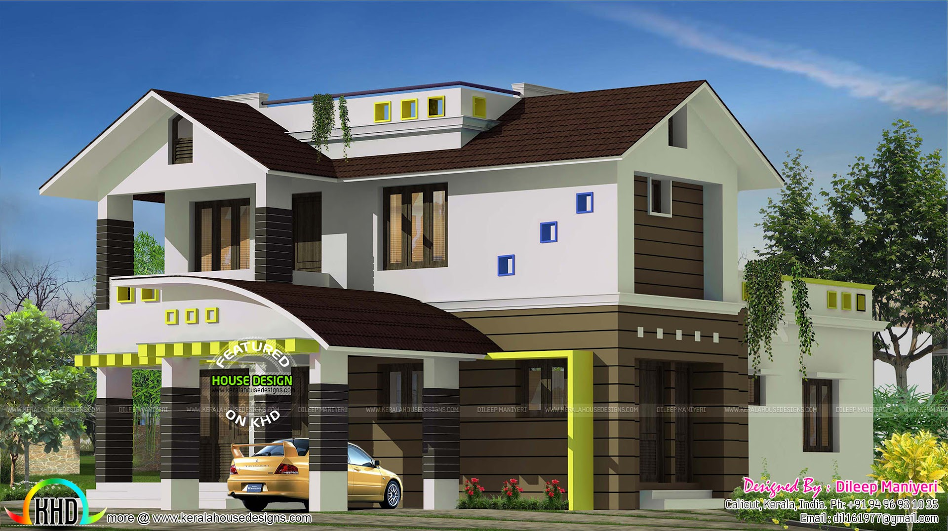 4 Bedroom Mixed Roof Home Part - 17: 2325 Sq-ft Mixed Roof 4 Bedroom Home
