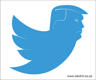Donald Trump loves Twitter by Ian Davy Brown