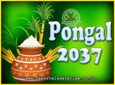 2037 Pongal Festival Date & Time, 2037 Thai Pongal Calendar