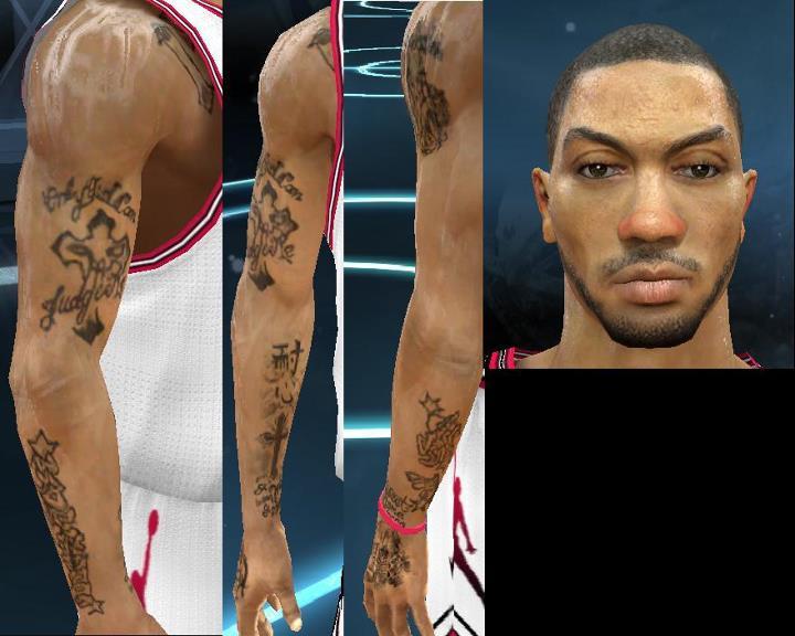 NBA 2k12 Philippines: Derrick Rose Update CF + enhanced tattoo