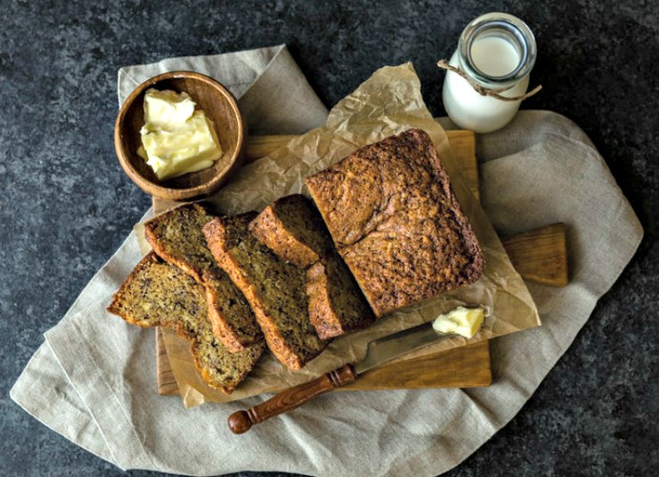 Banana, Honey and Nut Bread