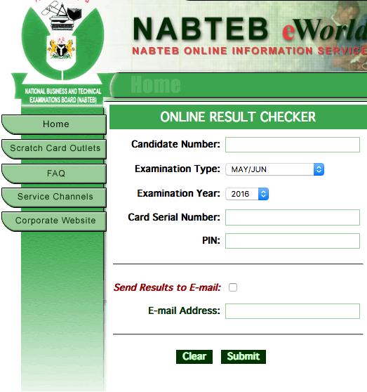 NABTEB Result 2017