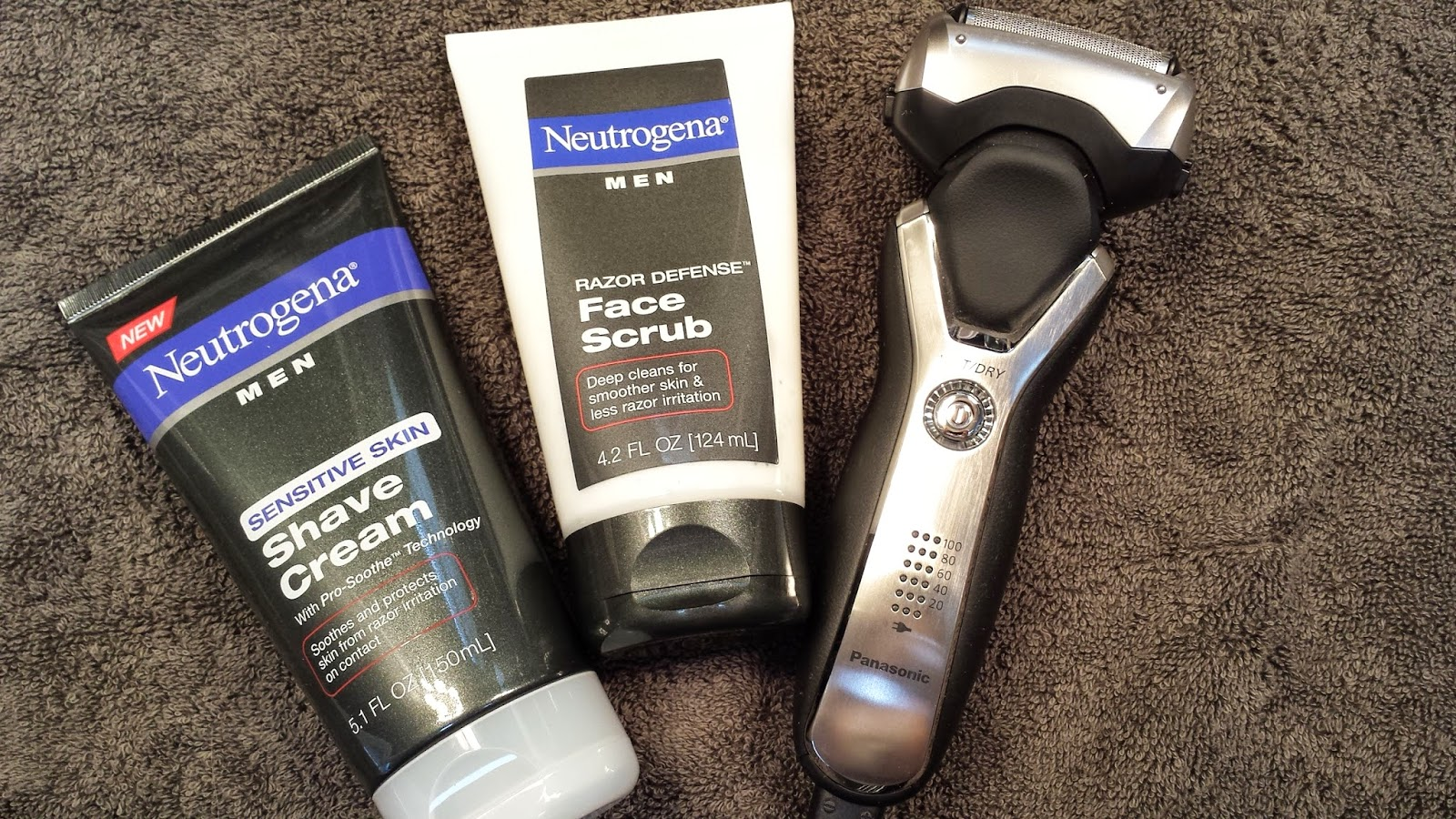 Neutrogena Men's Line & Panasonic wet/dry razor