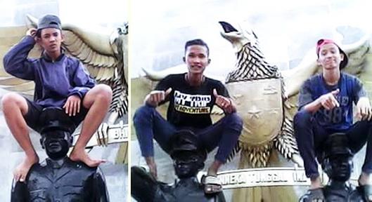Sebentar Lagi Bocah Duduk di Atas Patung Pahlawan Revolusi Bakal Jadi Duta Pahlawan