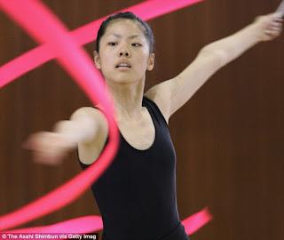 Kei Nishikori Girlfriend Honami Tsuboi Performing Her Gymnastic Act