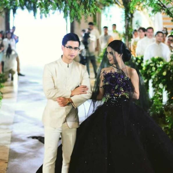 Wedding Dress Color Controversy : Absolutely stunning in her black wedding gown controversial daily