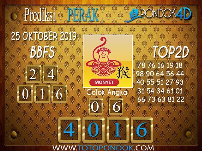 Prediksi Togel PERAK PONDOK4D 25 OKTOBER 2019