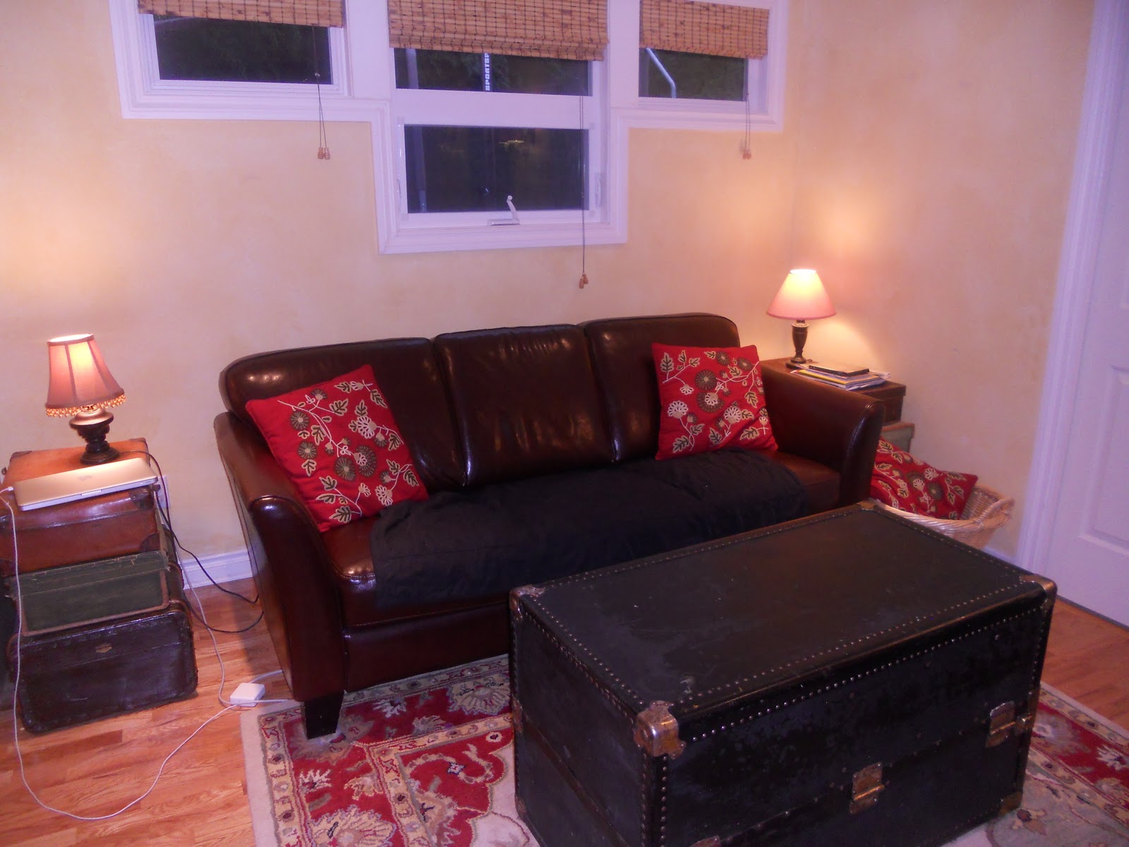 And Our Living Room Sofa