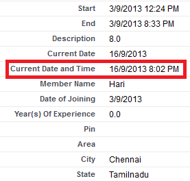 Infallible Techie: How to display current date and time in a