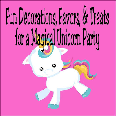 If you are looking for how to throw a Unicorn party, check out these fun party decorations, party favors, party treats, and more for the perfect Unicorn birthday party.