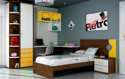 Dise os de dormitorios para adolescentes con mucho color Estudios decoracion de interiores