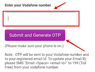Enter victim vodafone number