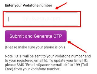 Enter victim vodafone number