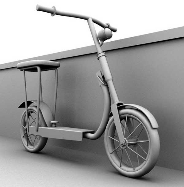 trottinette digitale en 3D