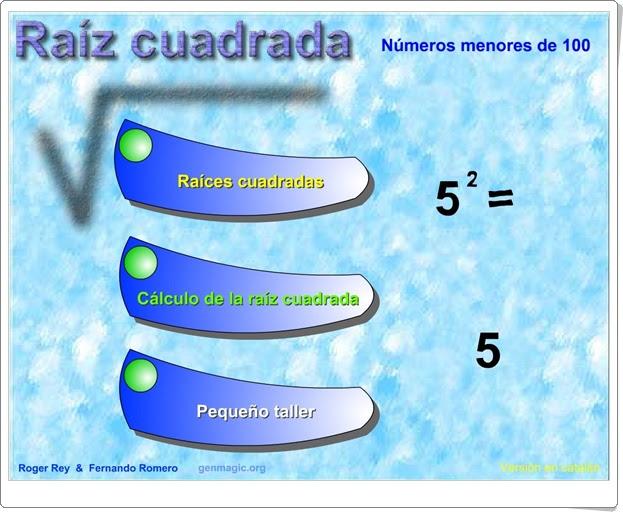 """""""Raíz cuadrada"""" (Matemáticas de 6º de Primaria)"""
