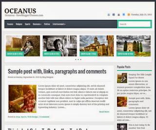 Oceanus Free Blogger Template