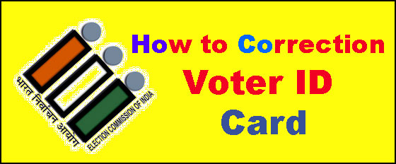 how to correction voter ID Online