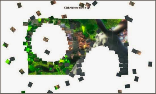 Blowing up HTML5 video and mapping it into 3D space