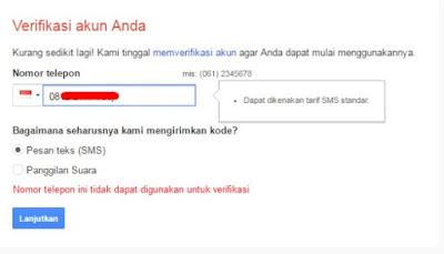 Cara Mengatasi  Nomor HP yang Tidak Bisa Digunakan untuk Verifikasi Gmail