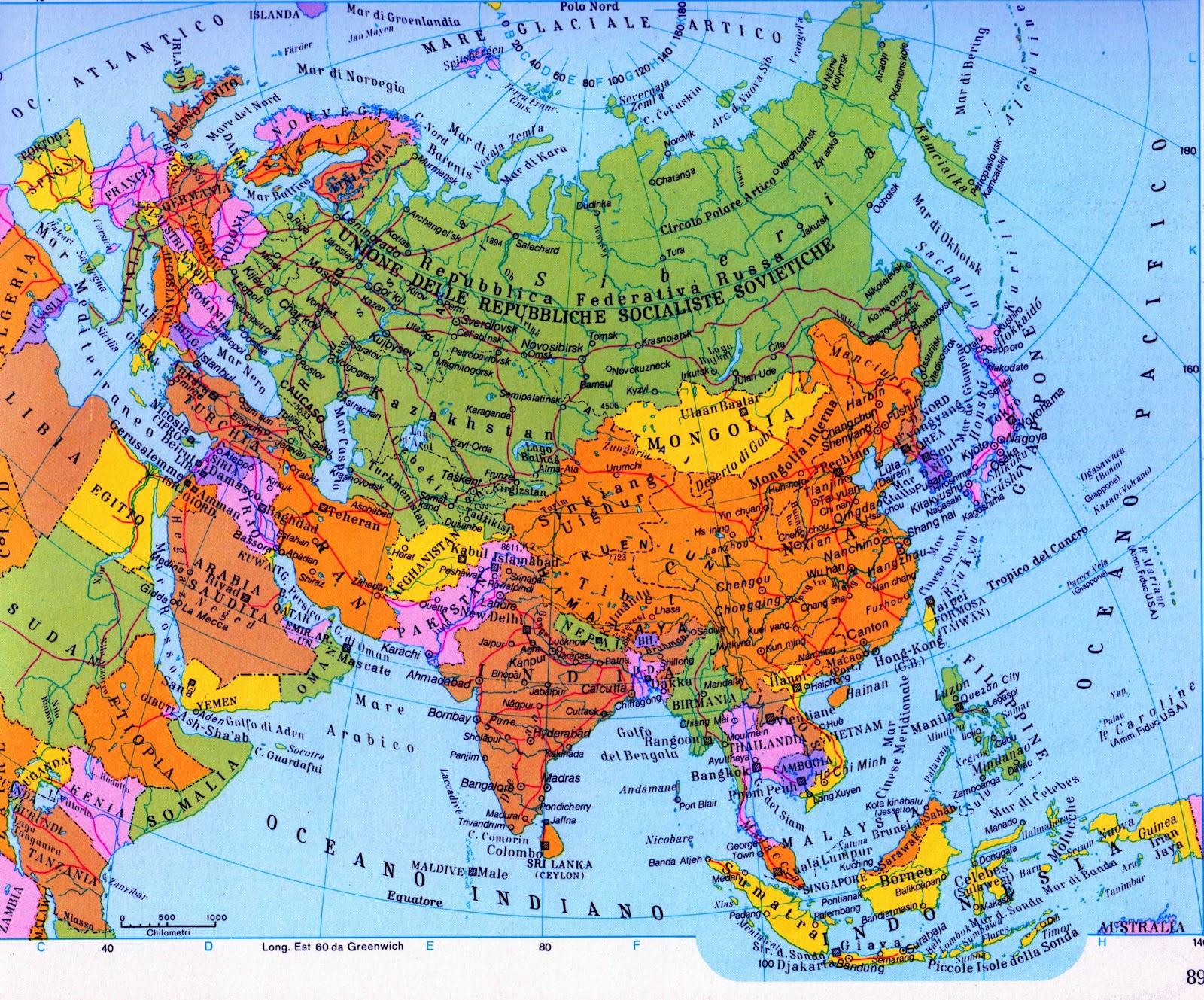 Asia Fisica Cartina Muta Africa Wwwtollebildcom