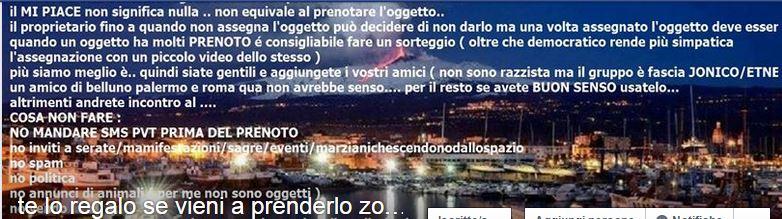 Te Lo Regalo Se Vieni A Prenderlo Sicilia.Tardi La Sera Presto La Mattina Su Facebook Successo Del