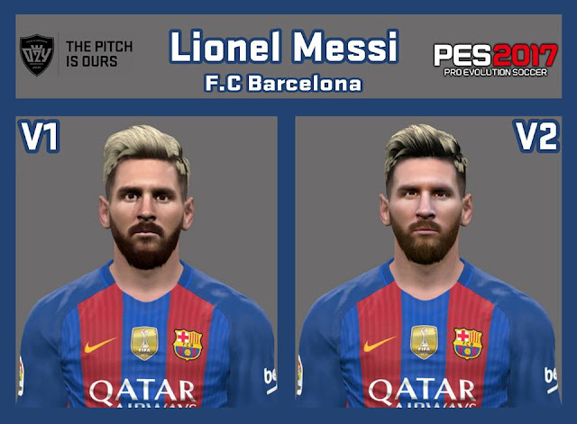 PES 2017 / PES 2016 Lionel Messi Facepack by Ozy_96 PESMOD