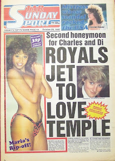 Front cover of the Star Sunday Sport newspaper from October 1987
