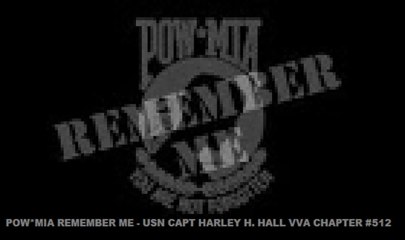 POW*MIA REMEMBER ME -  USN CAPT HARLEY H. HALL VVA CHAPTER 512