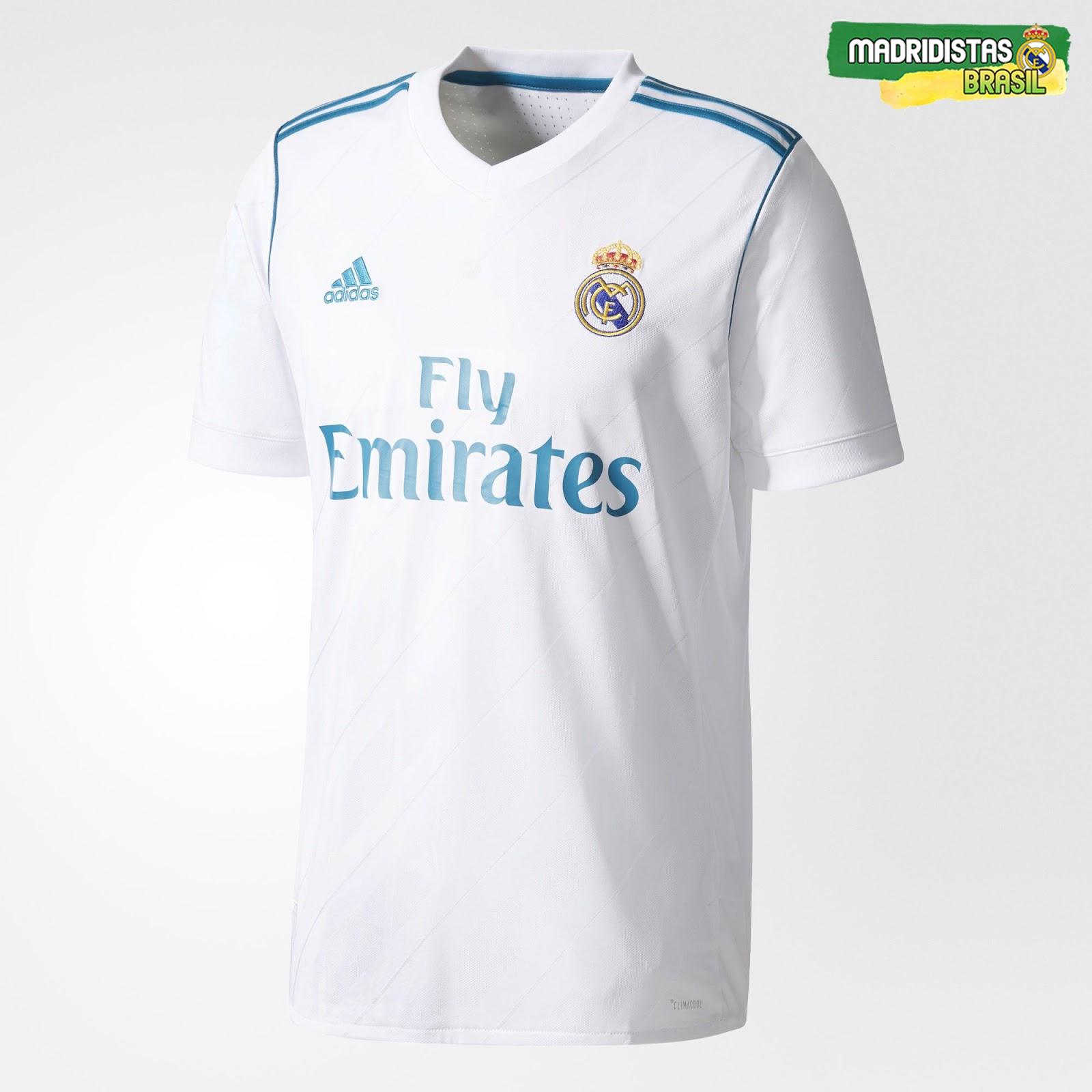 Real Madrid lança oficialmente seu novo uniforme para a temporada ... 40ddeab4c9918