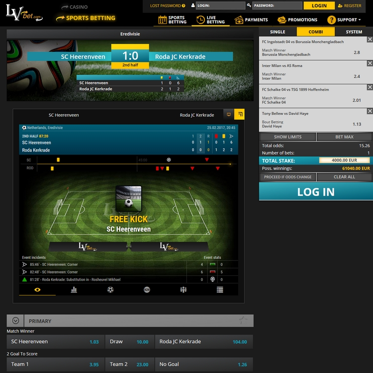 LVbet Live Betting Offers