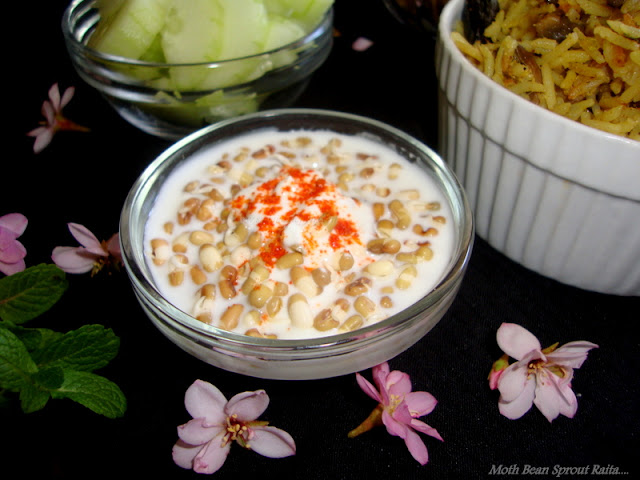 images of Moth Bean Sprout Raita / Bean Sprout Raita