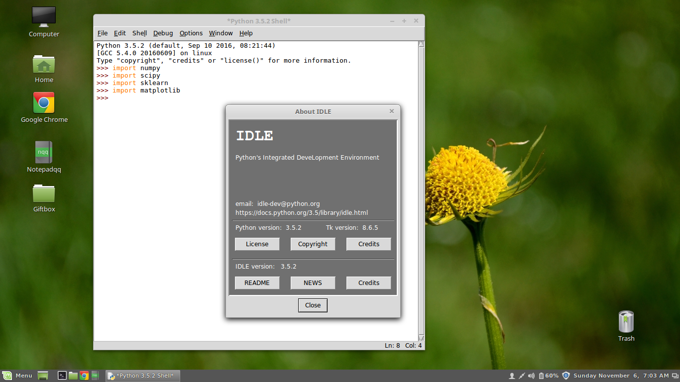 python setup.py install numpy linux