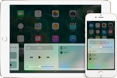 ios10-iphone6s-ipad-home-control-center choose Apple tv or other receiver to mirror your ios secreen